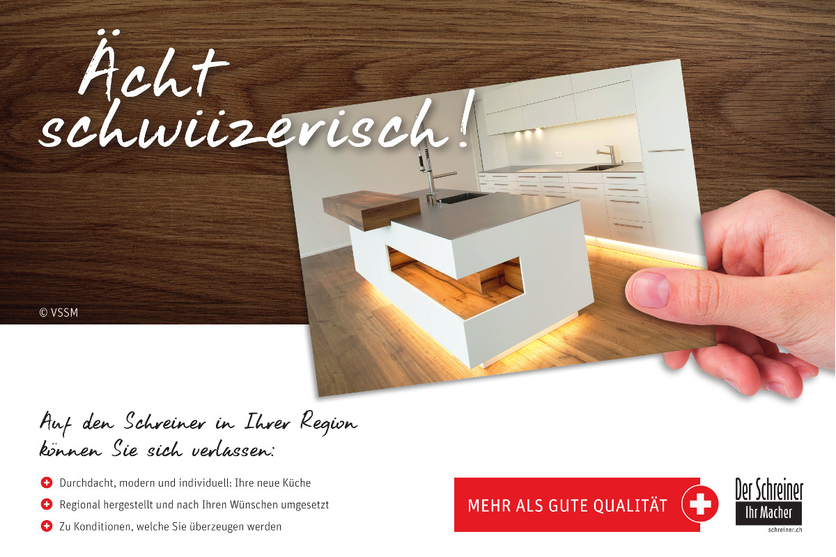"Plakat des VSSM ""Ächt schwiizerisch!"" de VSSM."