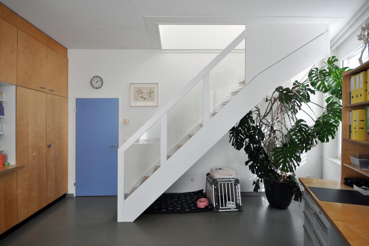 Eine neue Treppe führt ins obere Geschoss