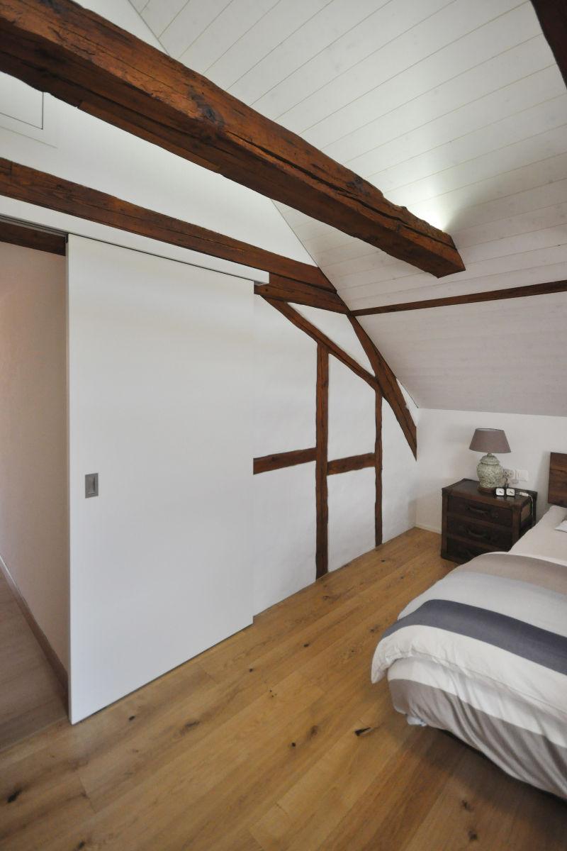 Neue Schiebetür im Schlafzimmer