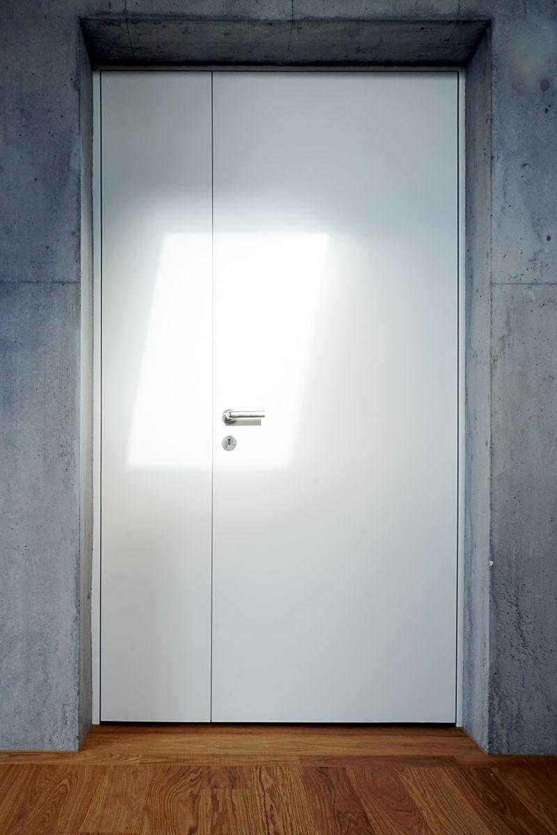 Die Zimmertüren wurden als Rahmen konstruiert.