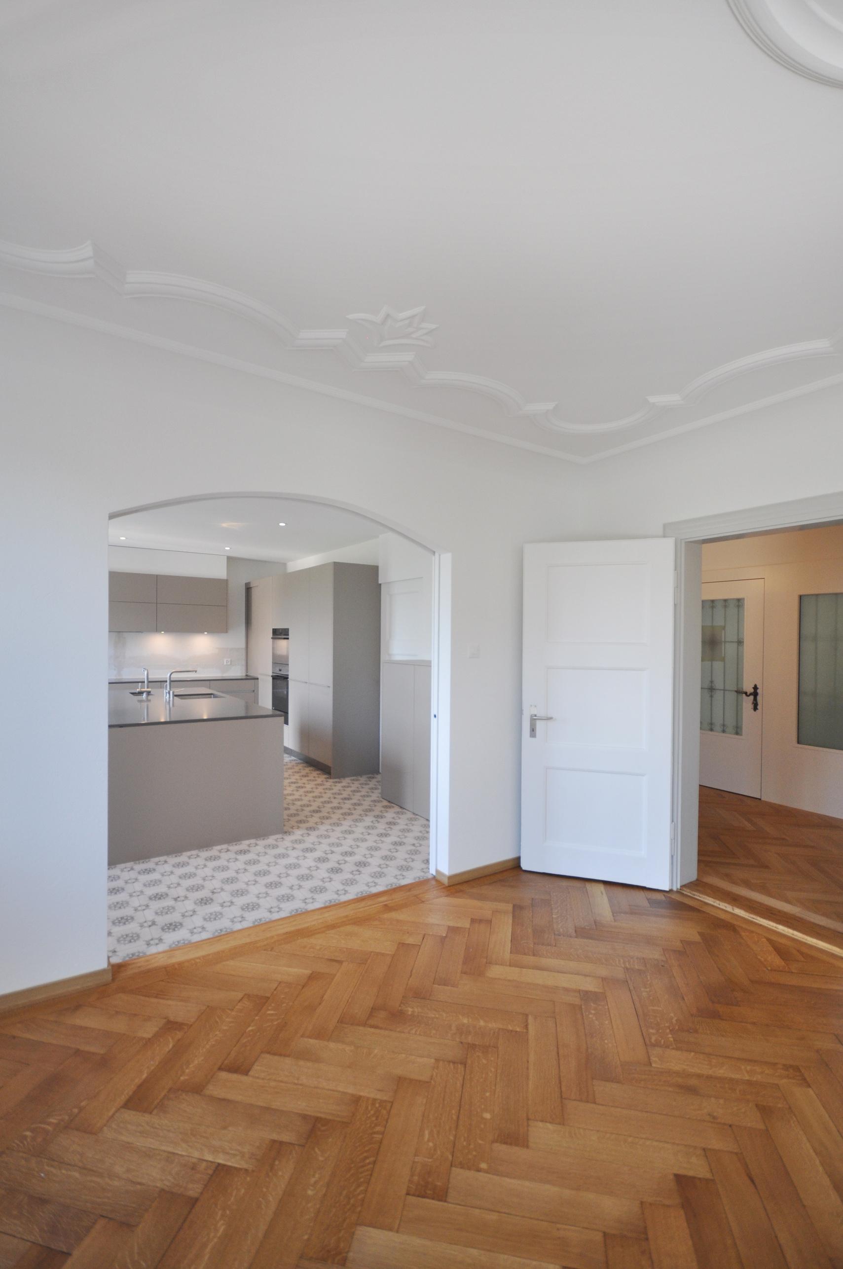 Schiebetür vom Wohnzimmer zur Küche