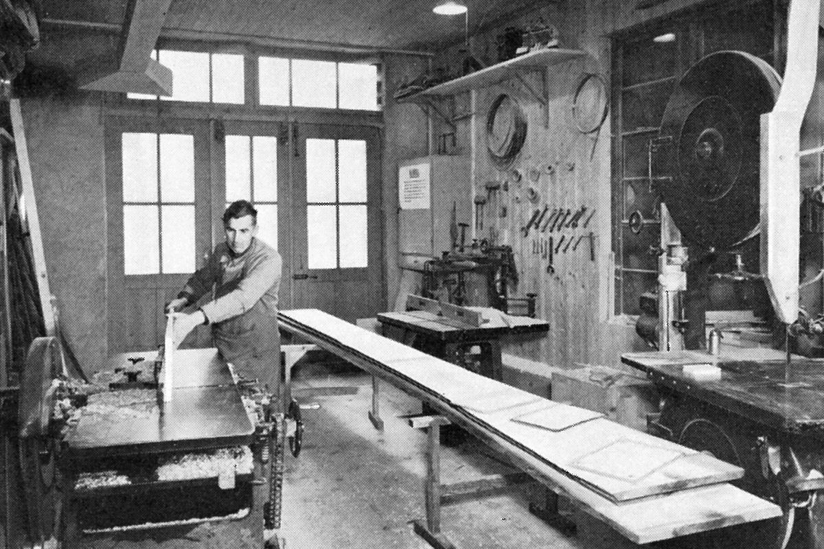 Maschinenraum im Jahr 1954