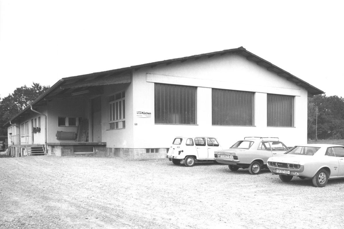 Das Werkstattgebäude im Jahr 1966