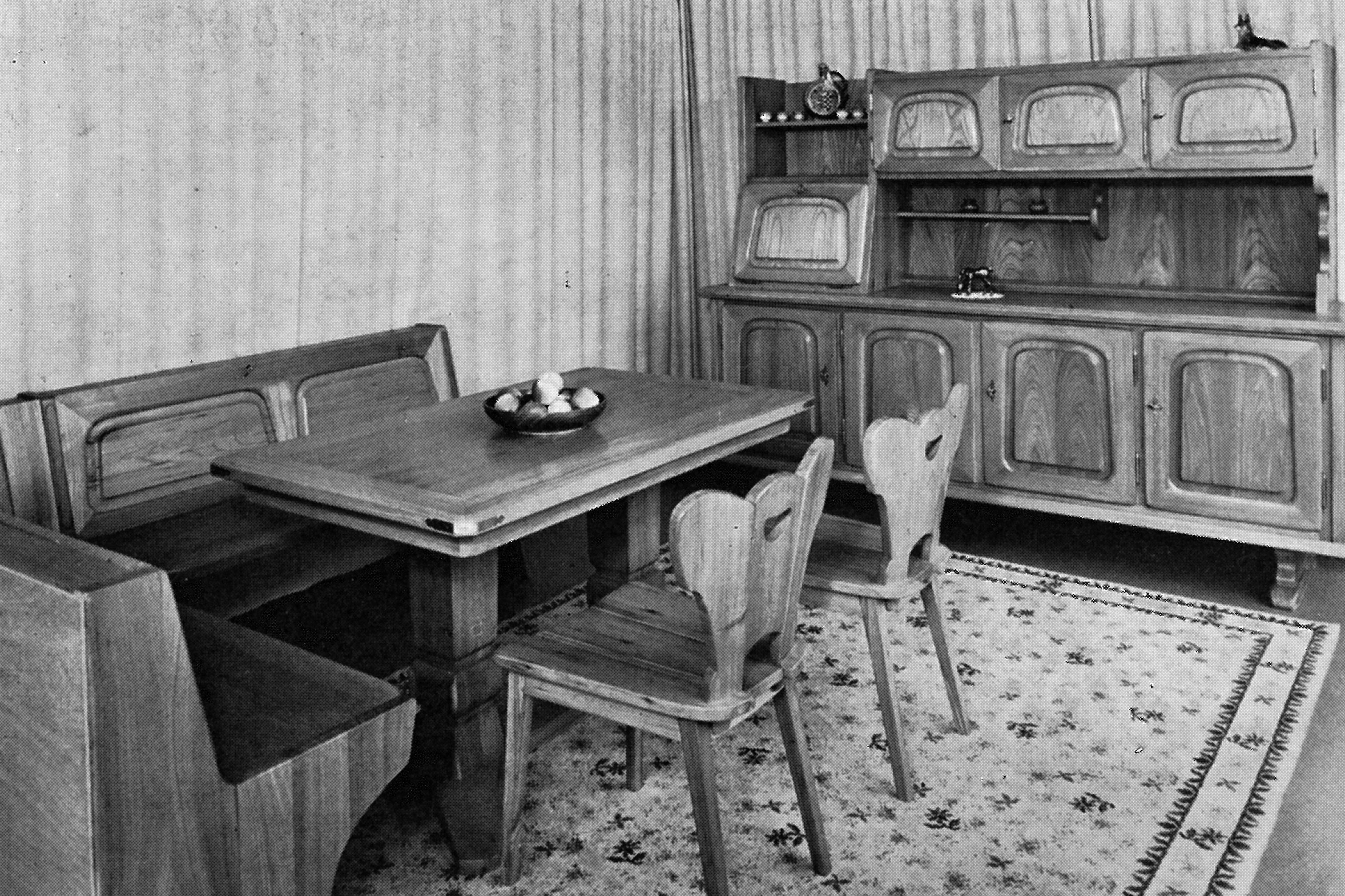 Wohnzimmereinrichtung von 1954